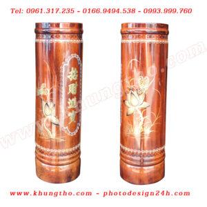 Ống đựng nhang bằng gỗ