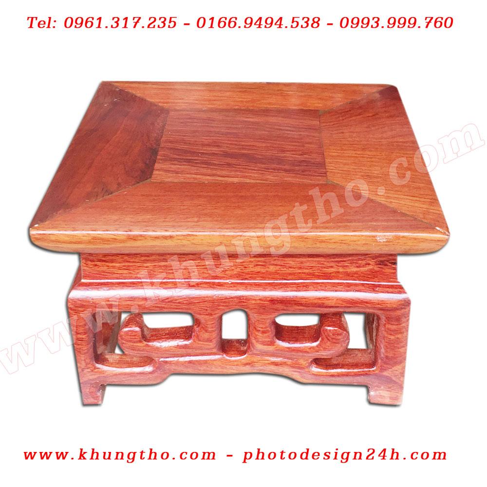 Đế vuông gỗ hương