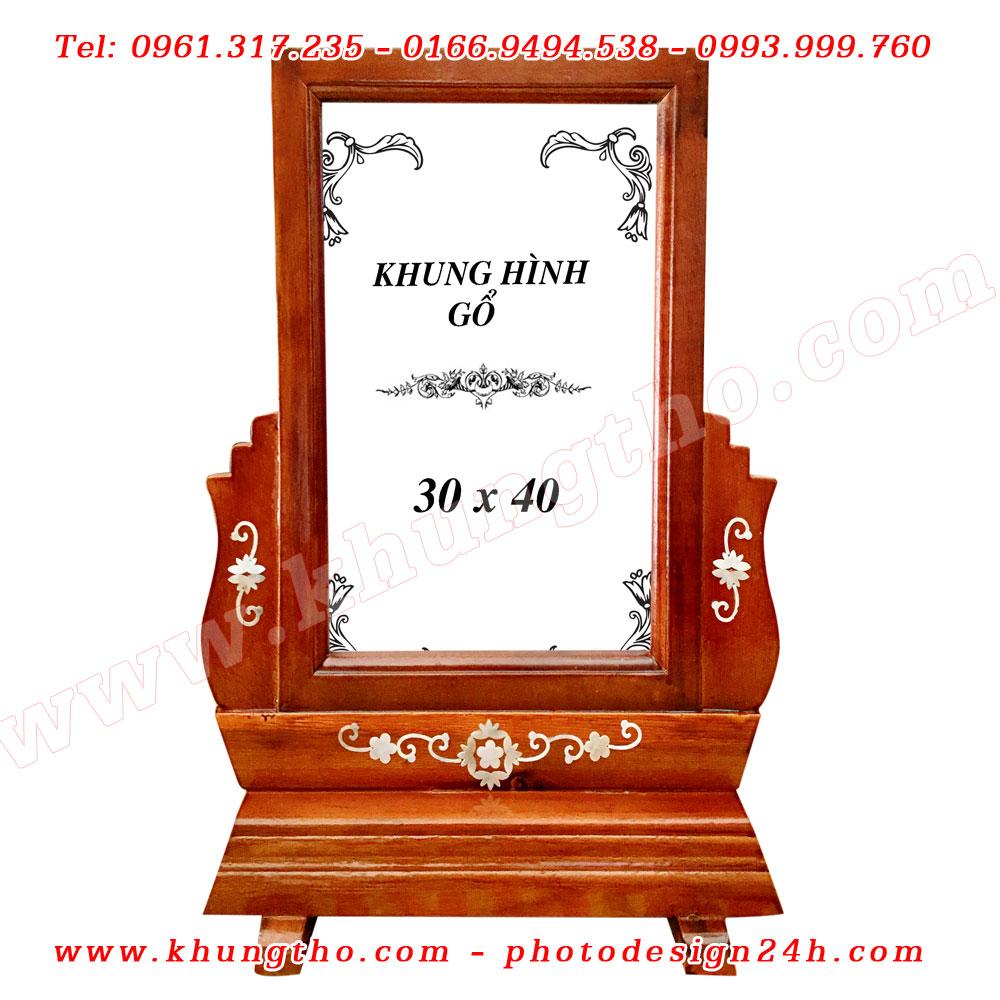 khung ảnh thờ bằng gỗ 30x40