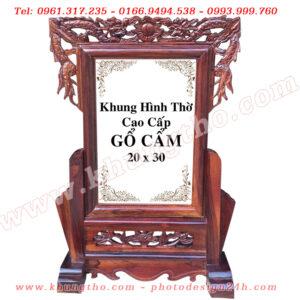 khung ảnh thờ gỗ cẩm