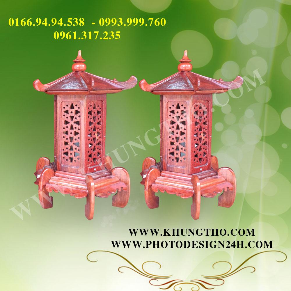 đèn thờ gỗ hương