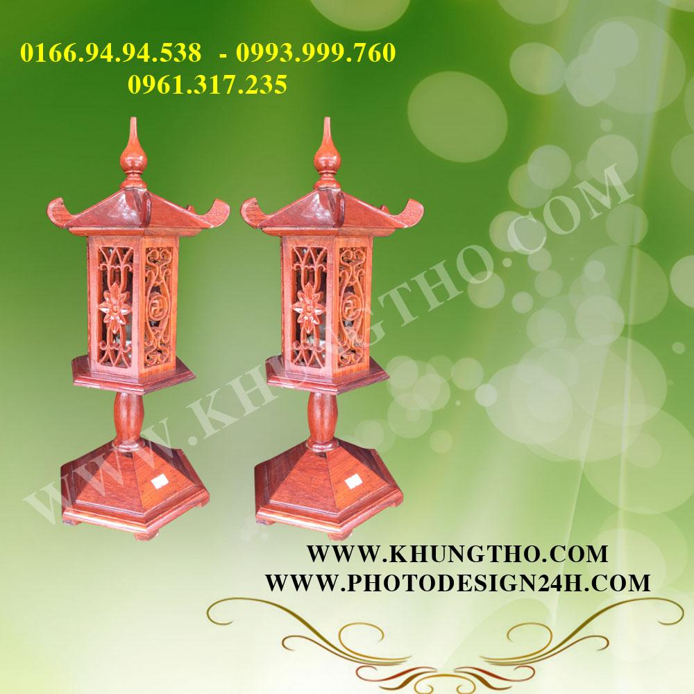 đèn thờ gỗ