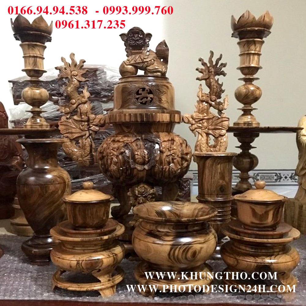 Bộ đồ thờ bằng gỗ chín món