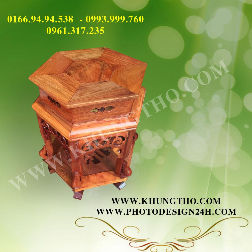 đôn lục giác gỗ hương