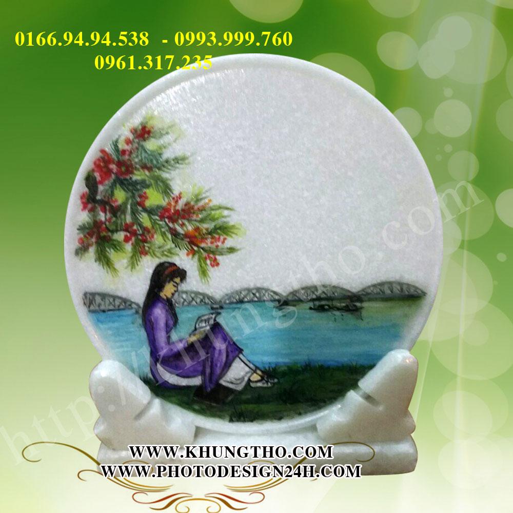Tranh đĩa đá quà tặng